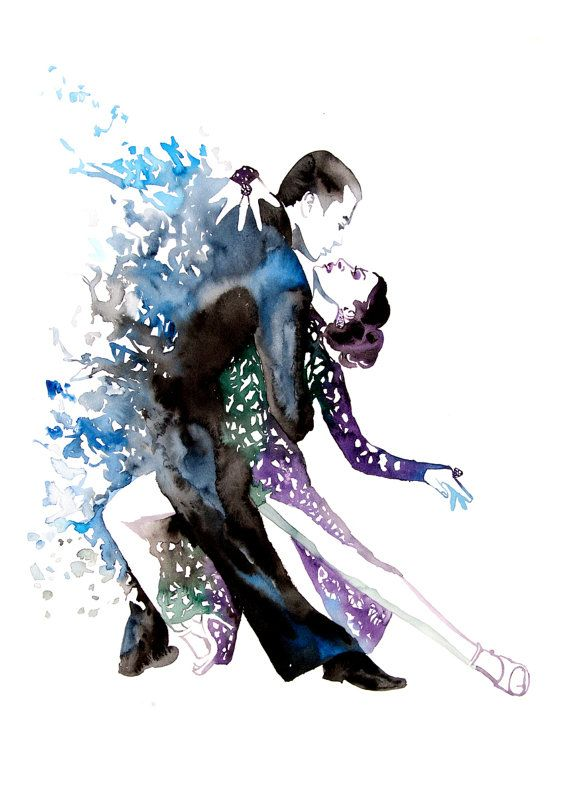 Ballroom Dancing Water Color Paintings