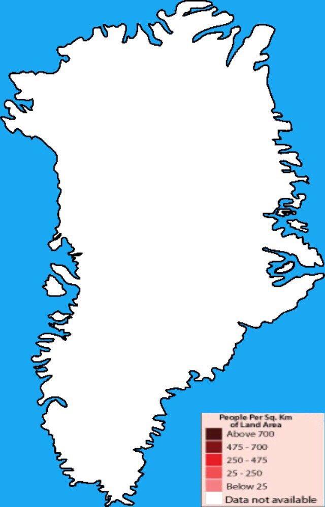 Population Density Map Of Greenland Tegninger