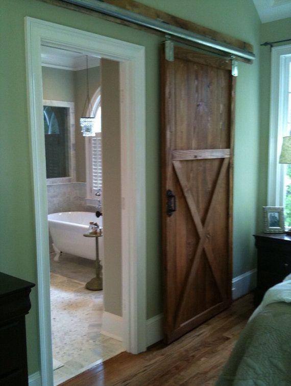 Barn door wood interior door- love it.