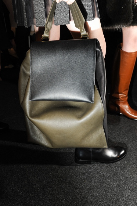 A close up photo of a Marni bag backstage #aw13 #leather #accessories