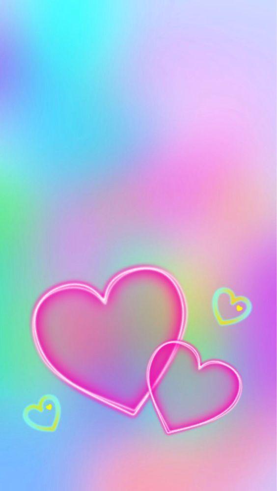Colour Colorful In 2019 Heart Wallpaper Love