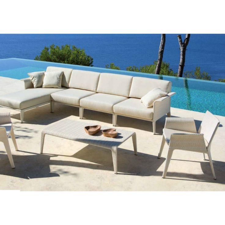 Outdoor sofa ALISON DARK BROWN OUTDOOR by Minotti design Rodolfo ...