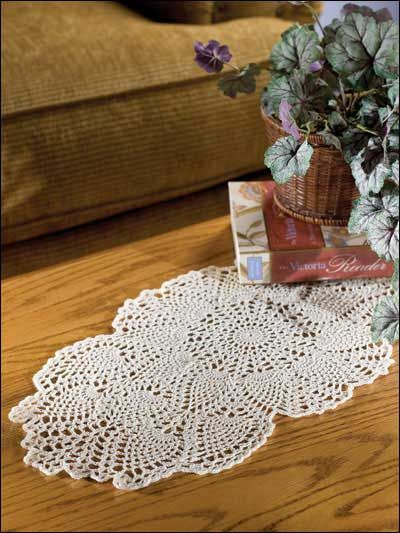 Coffee-Table Topper. Free crochet Doily pattern