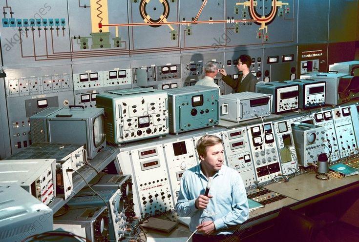 "sovietpostcards:  ""Nuclear Physics Institute in Novosibirsk, Russia (1974)  """