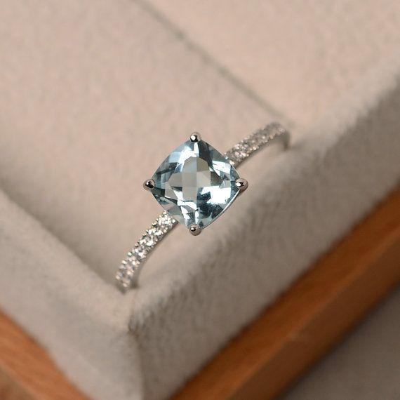 Aquamarine ring natural aquamarine aquamarine engagement