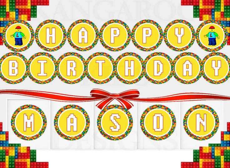 LEGO Birthday Banner Bunting Instant Download, Lego Letters, Lego Party Decor, Lego Happy Birthday Banner, Lego Birthday Printable