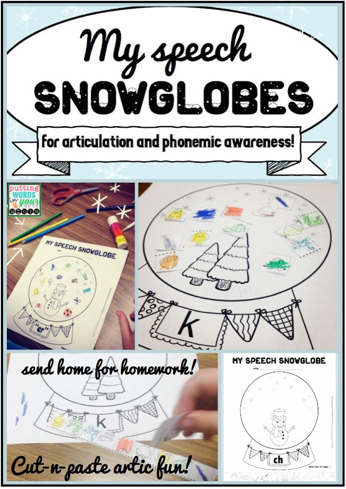 These speech snowglobes require absolutely no prep!! Just print and go for articulation therapy- the 16 snowglobe pages use black ink only and are perfect for addressing phonemic awareness and articulation skills. Then send home for more practice!