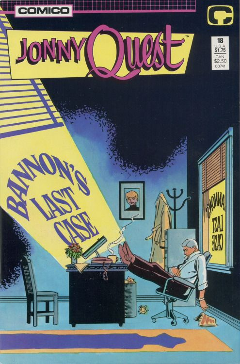 Jonny Quest #18, November 1987, cover by Marc Hempel and Mark Wheatley