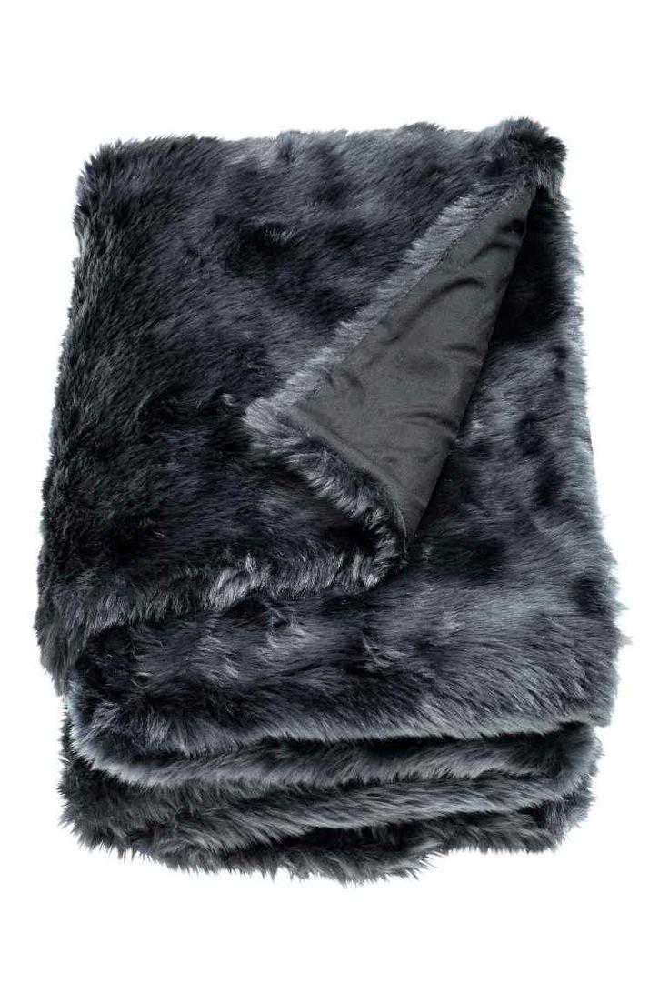 trendy plaid with plaid fourrure maison du monde. Black Bedroom Furniture Sets. Home Design Ideas