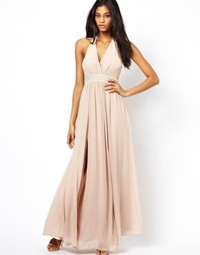ASOS Maxi Dress With Embellished Waist