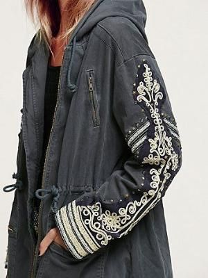 O.M.G!! - I ABSOLUTELY LOVE THIS COAT!! - THE COLOUR IS PERFECT AND THE EMBROIDERY ON THE SLEEVES IS JUST GORGEOUS!!