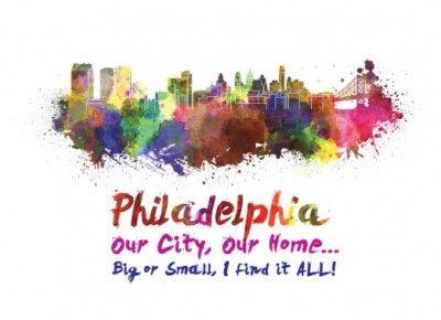 Philadelphia Skyline Realtor Postcard  http://postcardspromo.com