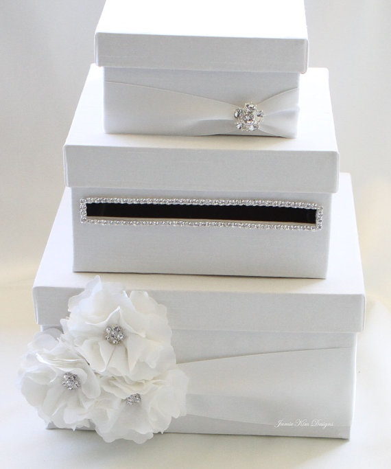 ... your box & flower colors Gift card holders, Wedding and Gift cards