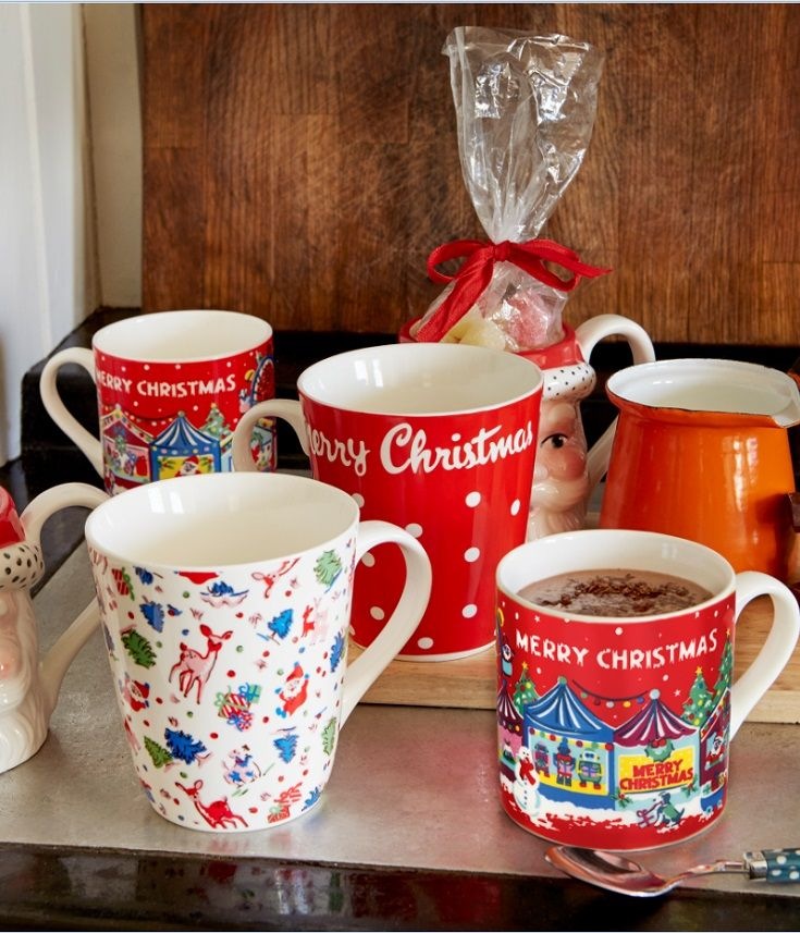 I'll only drink coffee from a Cath Kidston mug, a Christmas one? Yes please!
