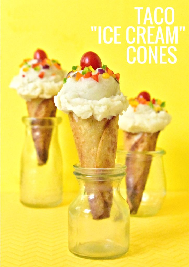 "Taco ""Ice Cream"" Cones"