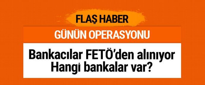 FETÖ/PDY operasyonları bankacılara uzandı. FETÖ'nün şifreli yazışma sistemi Bylock'u kullandıkları tespit edilen 20 bankacı hakkında gözaltı kararı verildi.