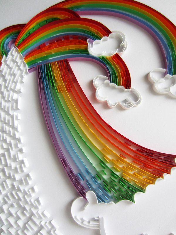 Quilled rainbow