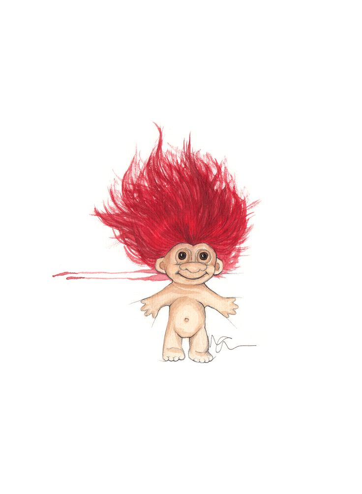 """Lykketroll"" (Happy troll) Copyright: Emmeselle.no illustration by Mona Stenseth Larsen"