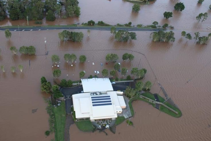 Lismore airport - they opted for this location over Casino where it doesn't flood. 31.03.2017 Floods