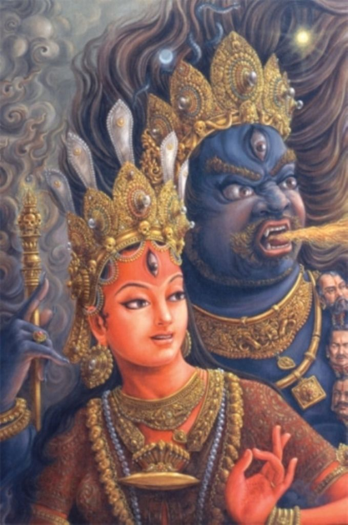 arjuna-vallabha:  Bhairava and Bhagavati, modern newar painting