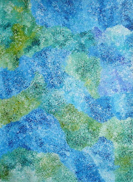 Bush Plum Dreaming by Polly Ngale, 200x150 cm     #AboriginalArt