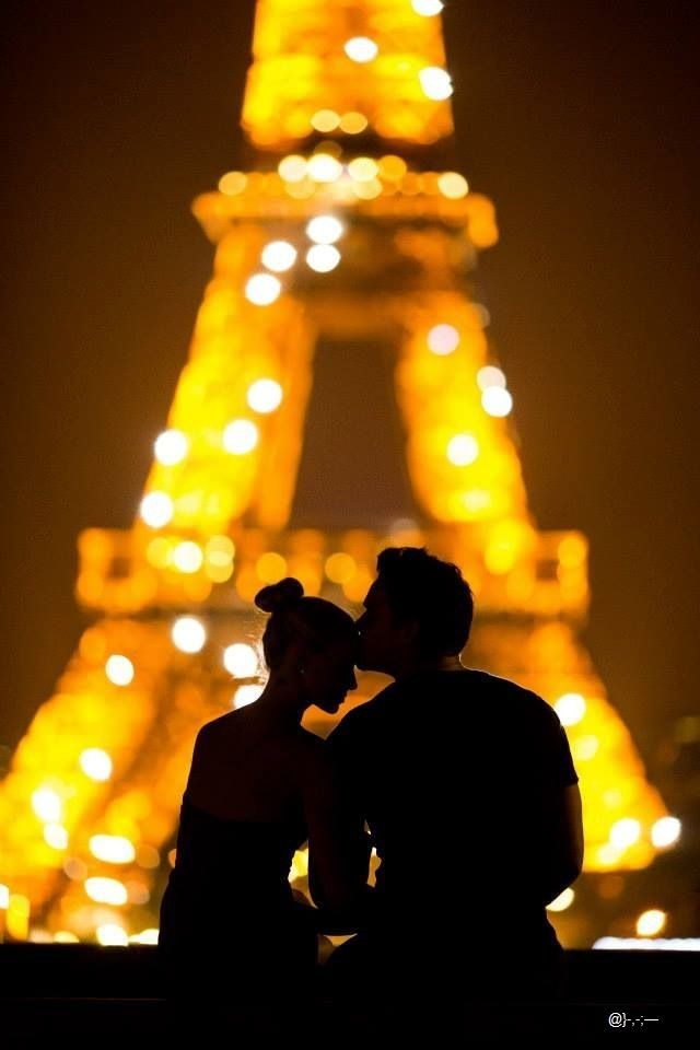 Bucket List: Kiss in Paris. (Ok so honestly I want to kiss like everywhere because I think that's a cool tradition to have with your husband but Paris seems especially cute, especially with this photo.)