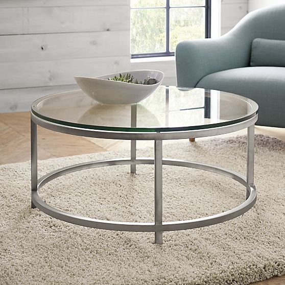 Era Round Coffee Table in Coffee Tables & Side Tables | Crate and Barrel