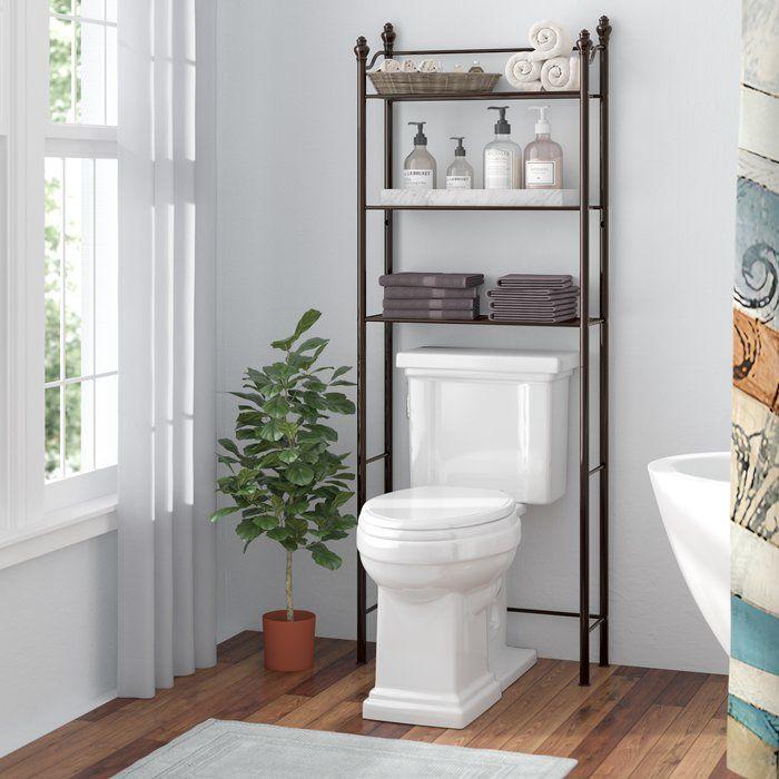 Gracia 24 6 W X 64 9 H X 9 45 D Over The Toilet Storage Diseno De Banos Decoracion De Banos Pequenos Organizador De Bano