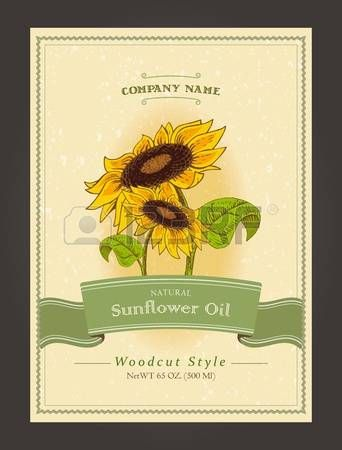 sunflower+oil%3A+Vintage+organic+labels+for+sunflower+oils.+Vector+harvest+template+in+woodcut+style.