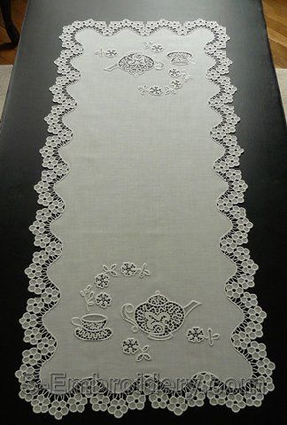 machine embroidery table runner designs - Google Search