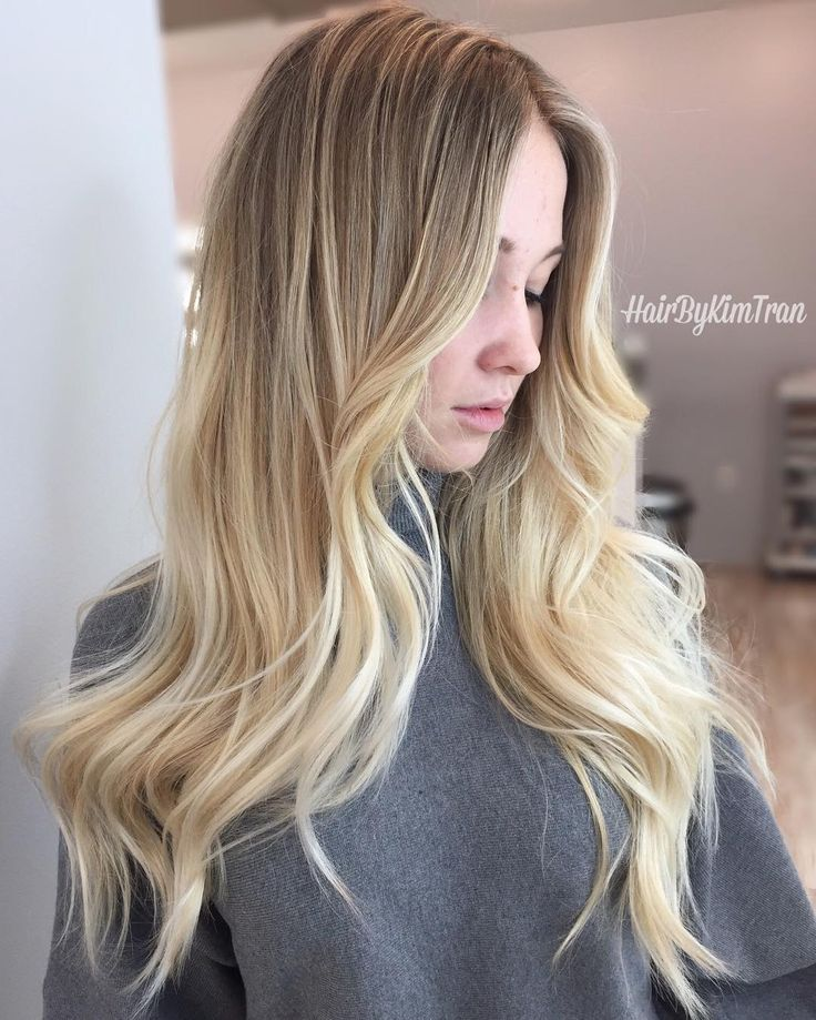 Yellow Gold Balayage For Long Bronde Hair Balayage