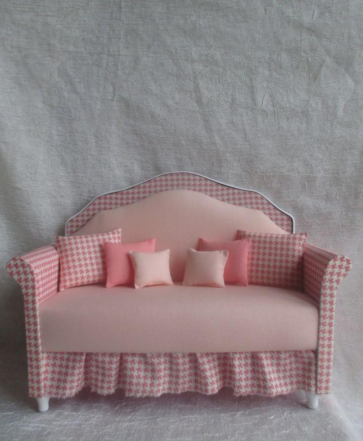 """Большой диван """" В Стиле Нежность """" Для кукол от 35 до 46 см / Кукольная мебель / Шопик. Продать купить куклу / Бэйбики. Куклы фото. Одежда для кукол"""