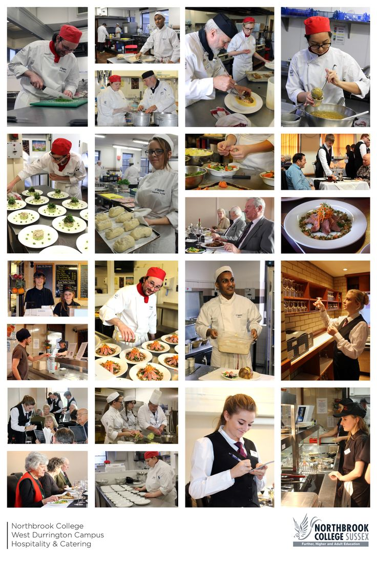 Our Hospitality & Catering students on a typical day in the Arundel Restaurant at Northbrook College.