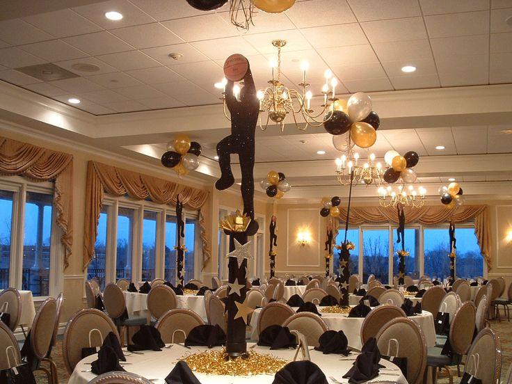 Basketball banquet centerpieces sports banquet 2014 15 for Athletic banquet decoration ideas