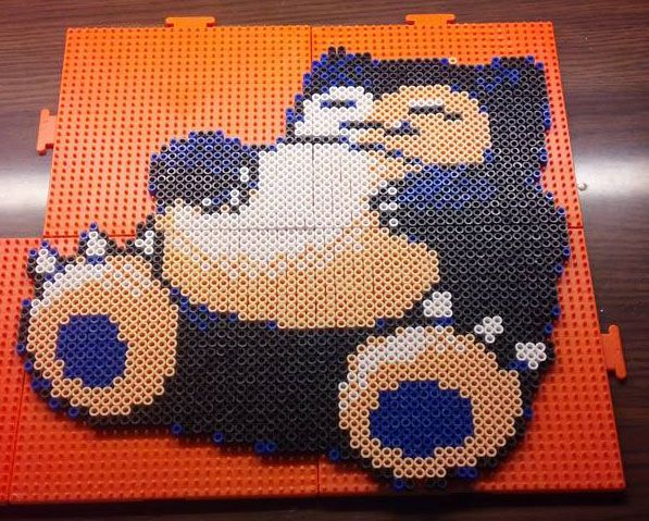 Shiny Snorlax from Pokemon Crystal Perler Beads by Blackshadowbutterfly
