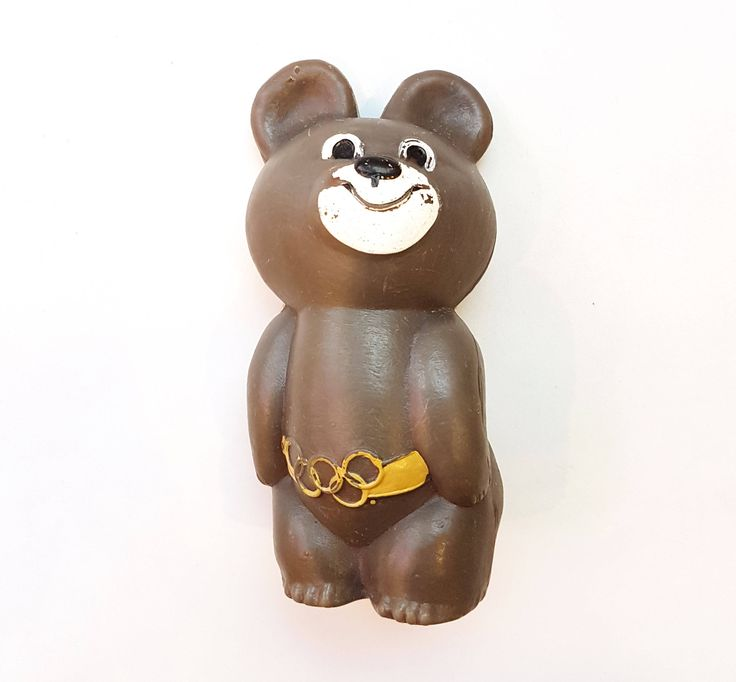 Bear MISHA mascot XXII Olympic Games 1980 in Moscow Polyethylene souvenir USSR by Olympiad80 on Etsy