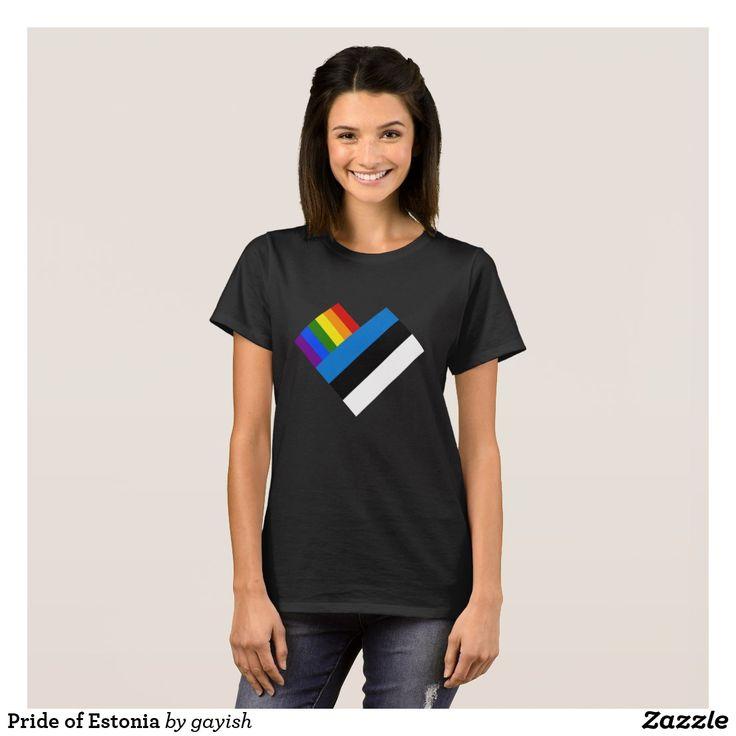 Pride of Estonia T-Shirt.  #estonia #estonian #eesti #gaypride #pride