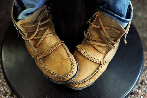 have i mentioned i love moccasins. wear them outside. wear them inside…