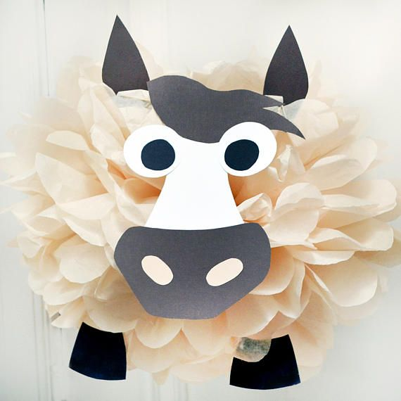 Horse  Tissue Paper Pom Pom Animal Kit