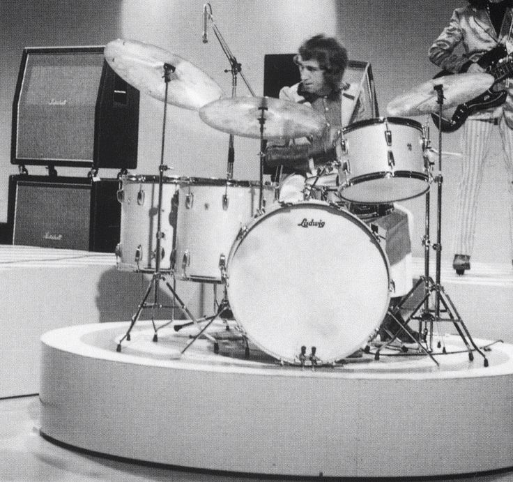 Mitch Mitchell on Ludwig drums circa 1968