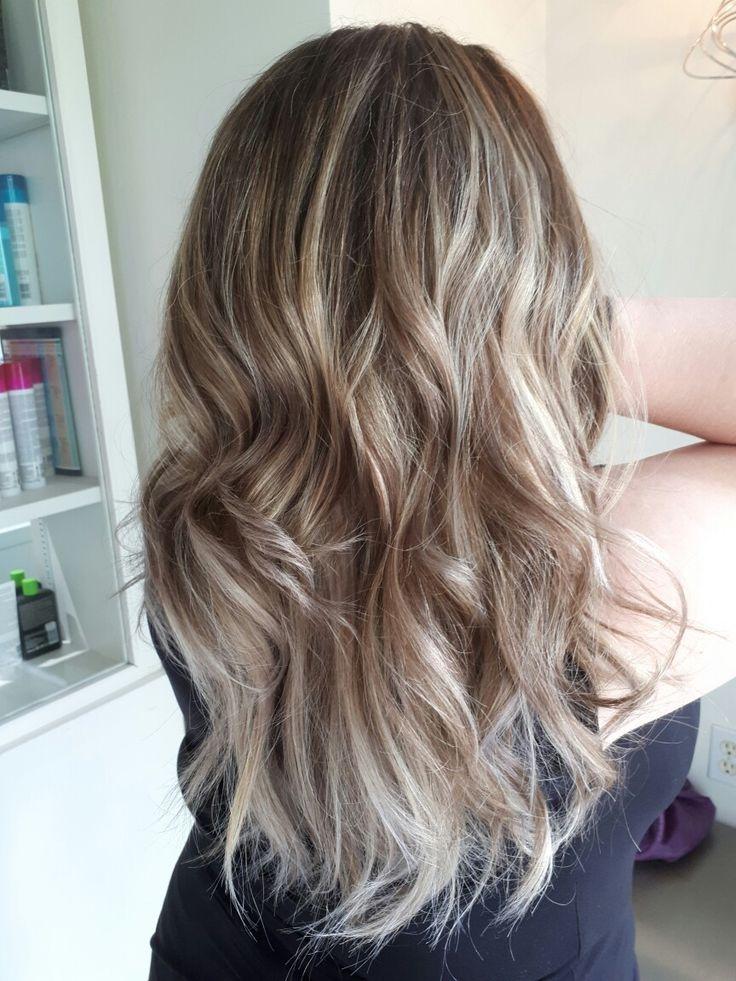 Summer time long hair Blonde balayage