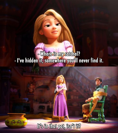 *CLANG* ... Poor Flynn; he's gonna have one big ol' headache. Flynn and Rapunzel…