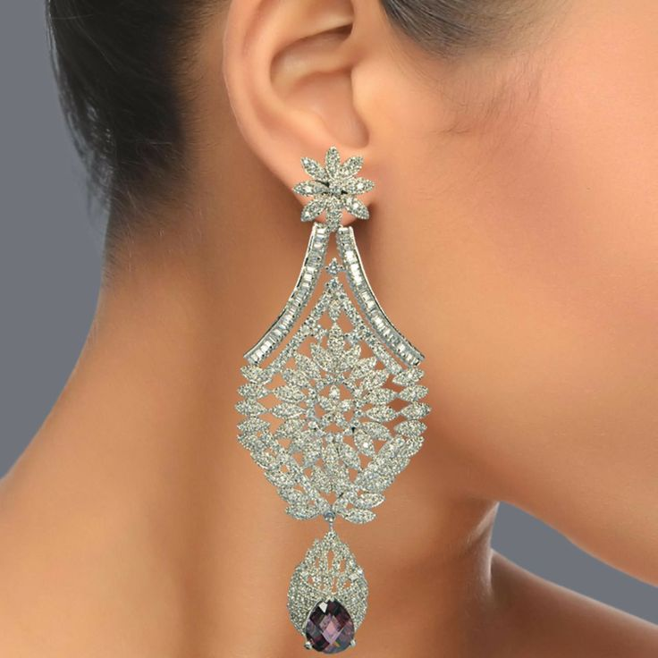 Featuring these Beautiful Fashion Zircon and Amethyst Chandeliers Earrings in our wide range of Earrings. Grab yourself one. Now!