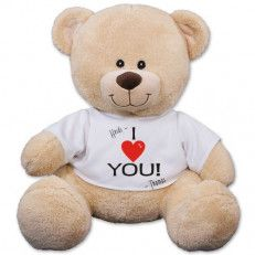 Personalized Heart Teddy Bear - 11 Inch Tell your special someone how much you love them by presenting them with our personalized heart shirt teddy bear this valentine's day! This is a wonderfully unique way to truly give someone your heart #valentine day #USA