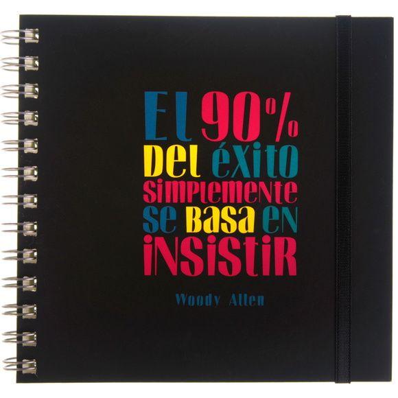 Cuaderno frase original - Woody Allen