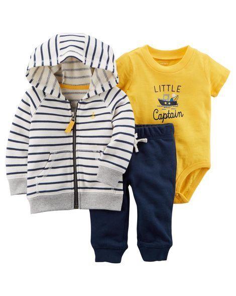 Baby Boy 3-Piece Little Captain Jacket Set   Carters.com #babyboyjackets