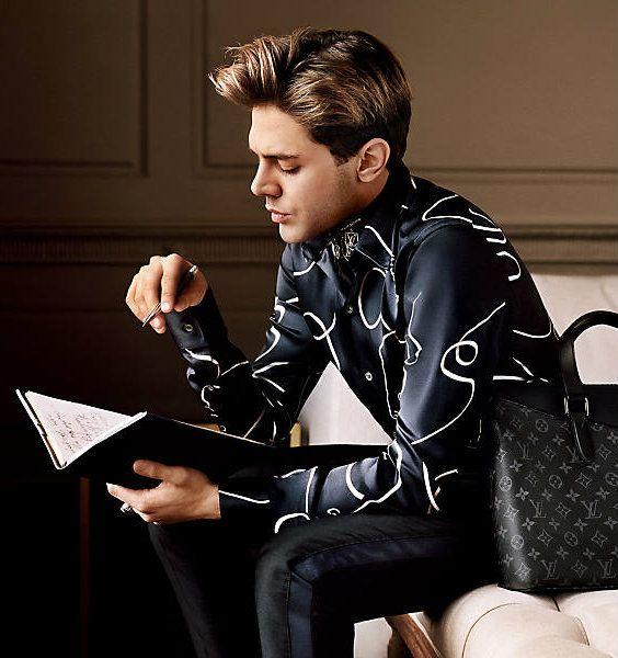 Xavier Dolan for Louis Vuitton AUTUMN-WINTER 2016 MEN CAMPAIGN.
