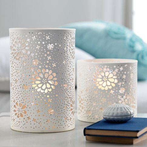 How dreamy these cutout lanterns are. Pottery Barn has the coolest stuff. #PBTEEN