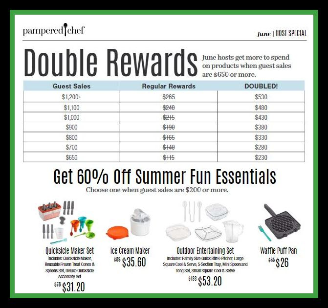 Let S Party In June Pampered Chef Host Rewards Rewards