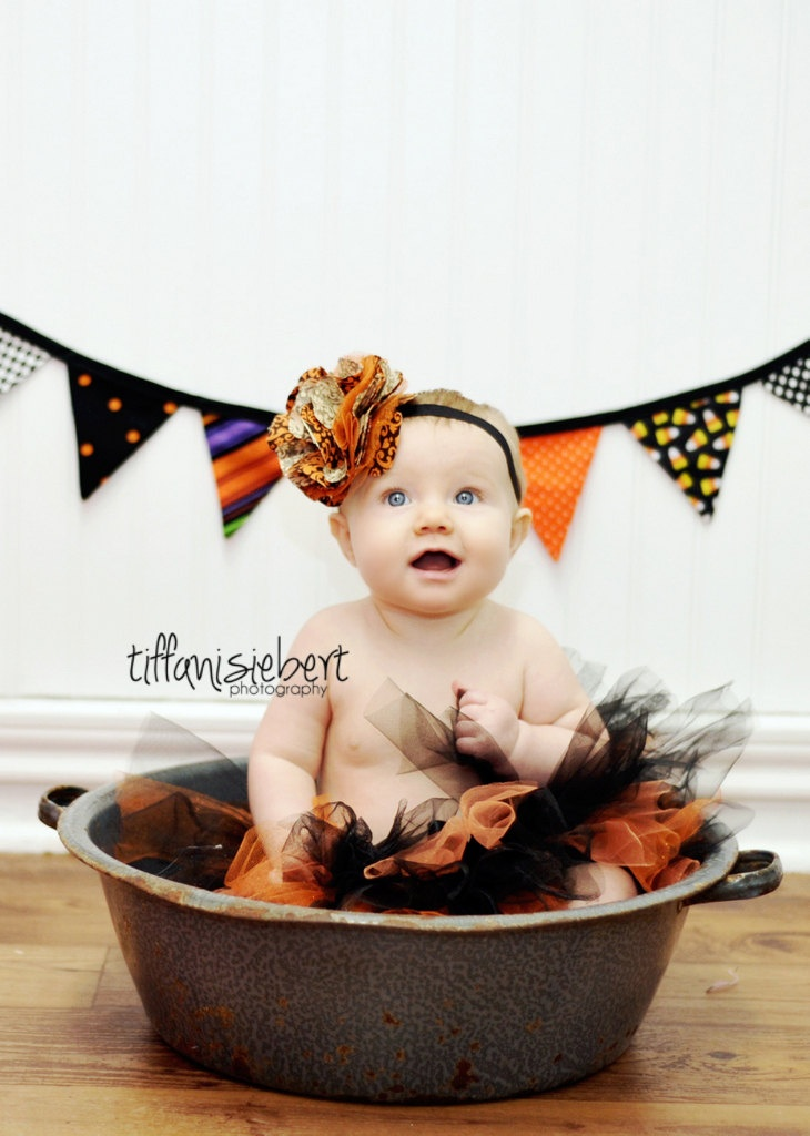 Halloween Tutu, Black and Orange Tutu, Halloween photo prop, Photo Prop, Baby Toddler Child Tutu